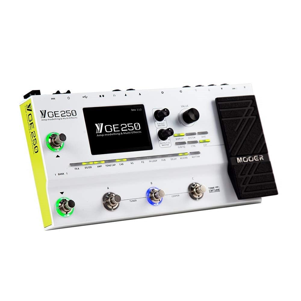 MOOER Pedal de varios efectos GE250 para guitarra, instrumento de modelado  Digital AMP, 70 AMP, 180 tipos de efectos, 70 segundos, modo  PRE/POST|Accesorios y piezas de instrumentos eléctricos| - AliExpress