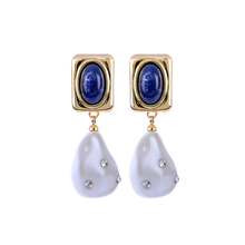 2019 Imitation Pearl Earrings Classic Fashion Rhinestone Resin Teardrop Women Accessories