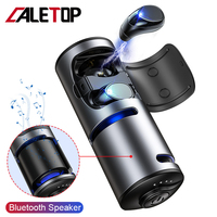Caletop Wireless Headphones and Bluetooth Speaker Earphones 3 in 1 with 1200mAh Power Bank IPX5 Waterproof 6D Stereo Sound Music