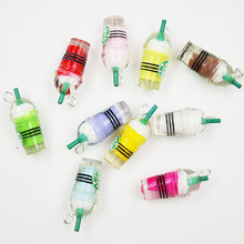 10PCS Coffee Cup Resin Dangle Charms For Jewelry Making DIY Mobile Phone Accessories Charm
