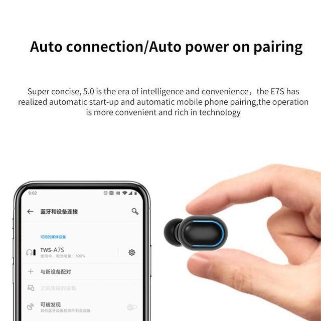 True Wireless Earbuds Bluetooth Headphones Sports Earphones TWS In-Ear Headsets with Microphone MIC Waterproof  for Mobile Phone 4