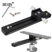 Bexin lente telefoto placa de apoio da câmera suporte de lente dslr liberação rápida placa com braçadeira qr para arca swiss tripé dslr câmera