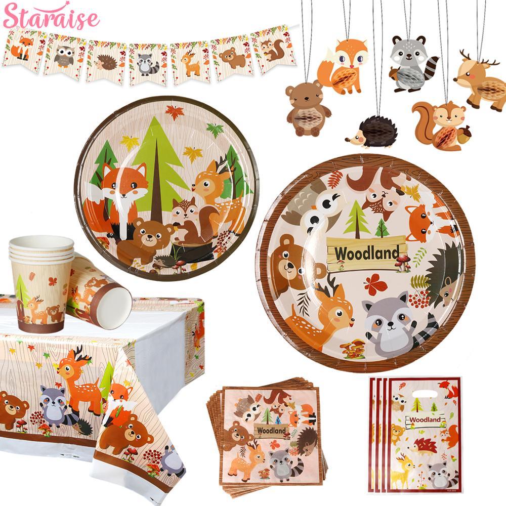 Staraise bois Animal Jungle forêt bricolage fête décor bois fête danniversaire bébé douche décor enfants fête danniversaire fournitures