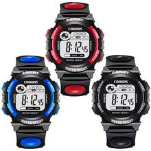 Fashion multi function kids boys girls sport led digital watch children students outdoor water resist COOBOS electronic watch