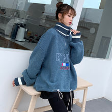 Lazy bf Lamb Wool Sweatshirs Women 2020 Spring Autumn Clothing new Loose Tops Long Sleeve Hoodies Coats Girls m237(China)