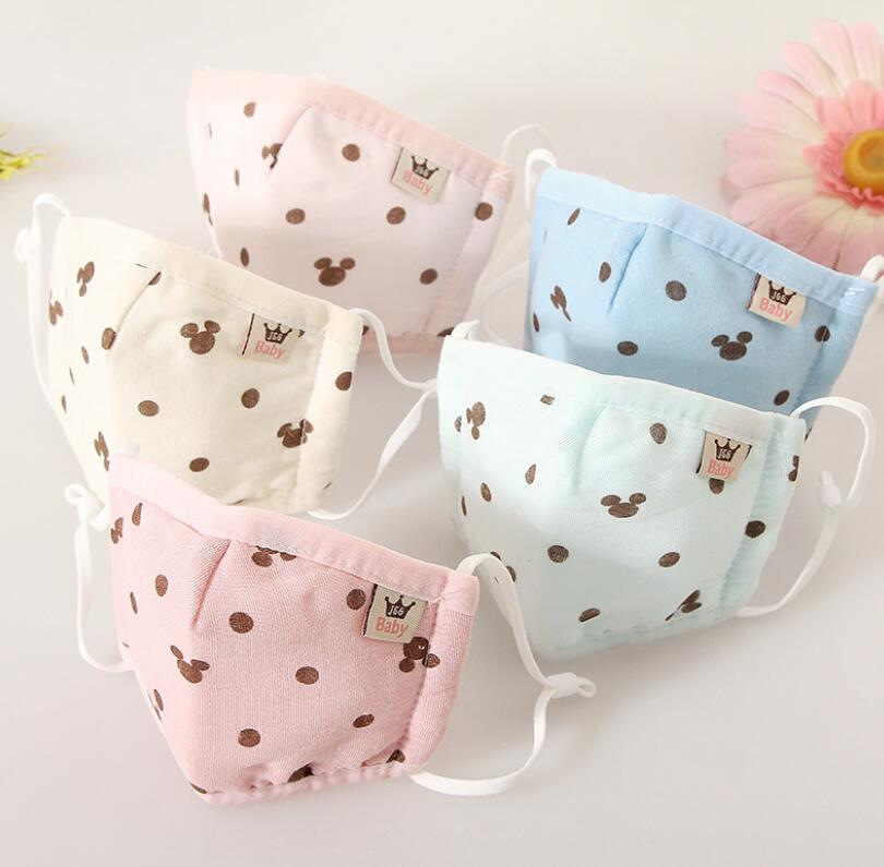 Children's Winter Thicken Warm Gauze Cotton Lining Masks Baby Kids PM 2.5 Breathable Mouth-muffle R1982
