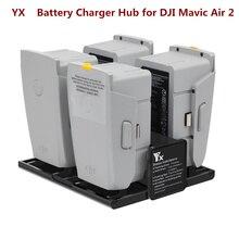 Yx 4で1ポータブルmavic空気2sバッテリー充電器dji mavic Air2コンバータバッテリー充電ハブスマート充電器桁ledスクリーン