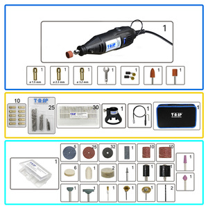 Image 2 - 220V 130W Electric Mini Hand Drill Grinder Rotary Tool Bag Kit Dremel Style Drilling Polishing Cutting Sanding Accessories Set