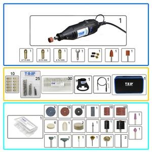 Image 2 - 220V 130W Elektrische Mini Handboor Grinder Rotary Tool Bag Kit Dremel Stijl Boren Polijsten Snijden Schuren Accessoires set