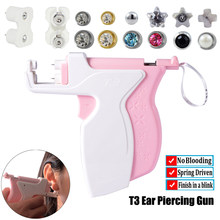 Profesjonalny pistolet do przekłuwania uszu nowy Desgin T3 narzędzia narzędzia do przekłuwania uszu łatwe w użyciu urządzenie chrząstka ucha kolczyk sztyft Helix
