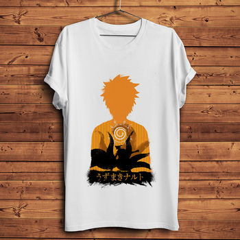 Naruto Uzumaki Sasuke Uchiha divertida camiseta anime homme Camiseta de manga corta hombres novedad de verano camiseta casual blanca unisex streetwear