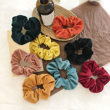 Velvet Scrunchie Elastic Hair Rubber Bands For Women Winter Girls Ponytail Holder Ring Headwear Soft Thick Accessories