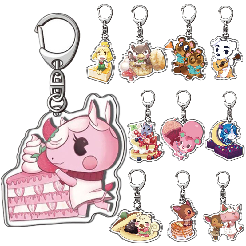 Animal Crossing Keychain Toy Acrylic Pendant Double-sided Animal Forest Friends Association