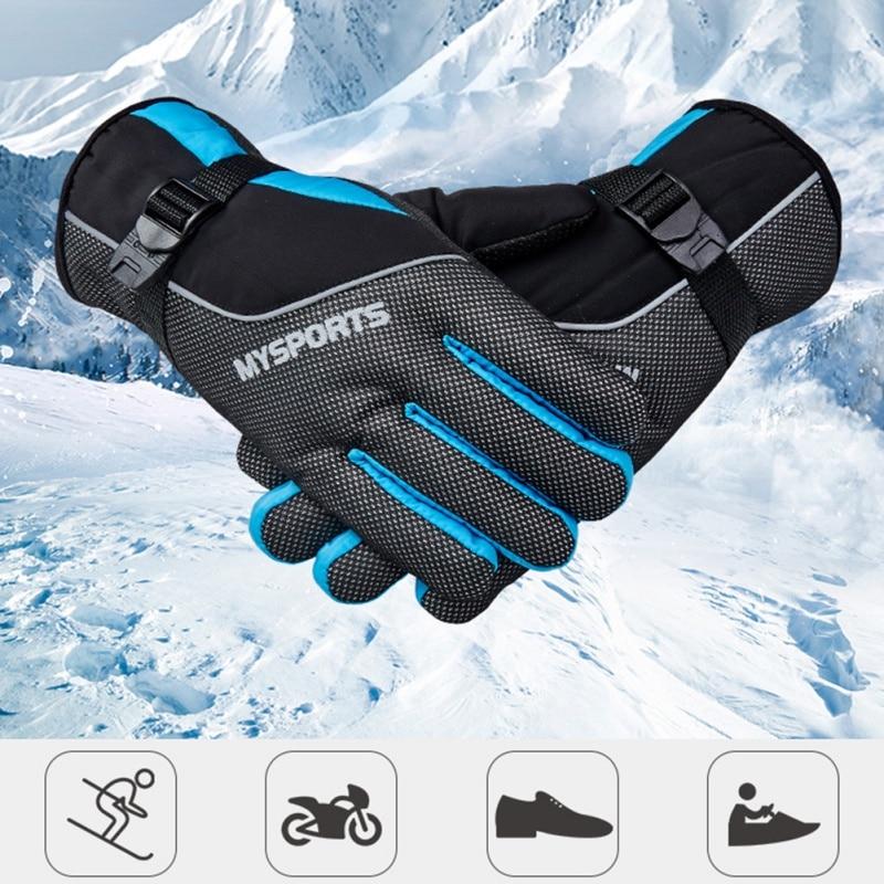 Outdoor Cycling Ski Gloves Winter Windproof Splash Water Ski Gloves Skiing Snowboard Riding Warm Waterproof Gloves