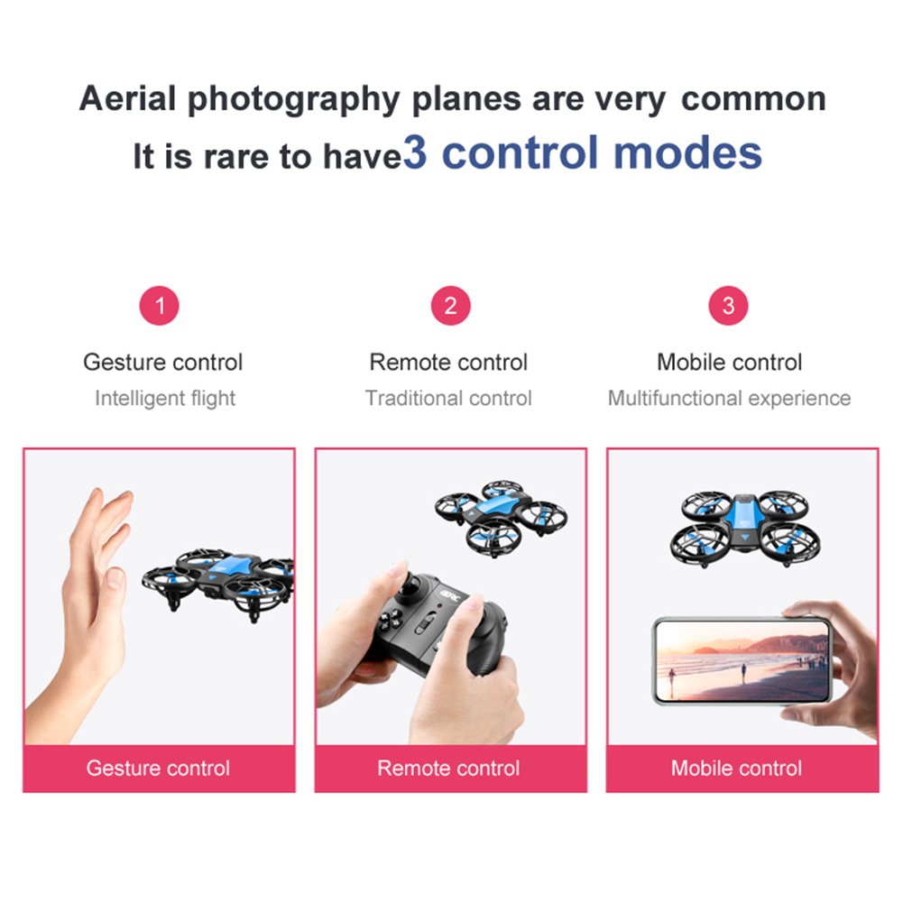 H60c4576f7e3b4af1a1504a91b4691ed6d - New V8 Mini Drone 4K 1080P HD Camera WiFi Fpv Air Pressure Height Maintain Foldable Quadcopter RC Dron Toy Gift