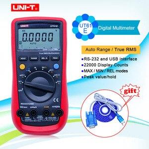 Image 1 - UNI T UT61A UT61B UT61C UT61E Digital multimeter true RMS RS232 interface MULTIMETER Auto range with LCD backlight display