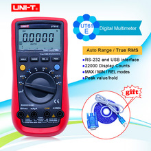 UNI T UT61A UT61B UT61C UT61E דיגיטלי מודד true RMS RS232 ממשק מודד טווח אוטומטי עם LCD תאורה אחורית תצוגה