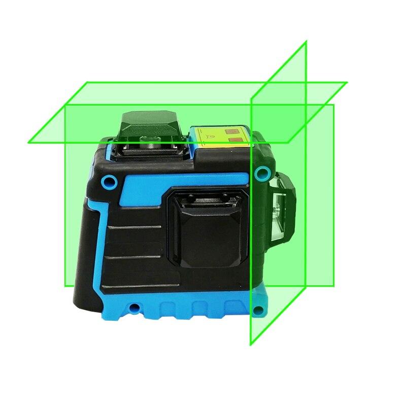 XEAST Laser Level 12 Linien 3D Ebene Selbst Nivellierung 360 Horizontale Und Vertikale Kreuz Super Leistungsstarke Green Laser Level