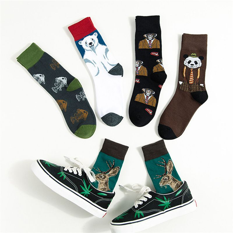 Men's And Women's Animal Cartoon Pattern Socks NEW Trend, Personality, Ventilation And Friction Proof High Quality Leisure Socks