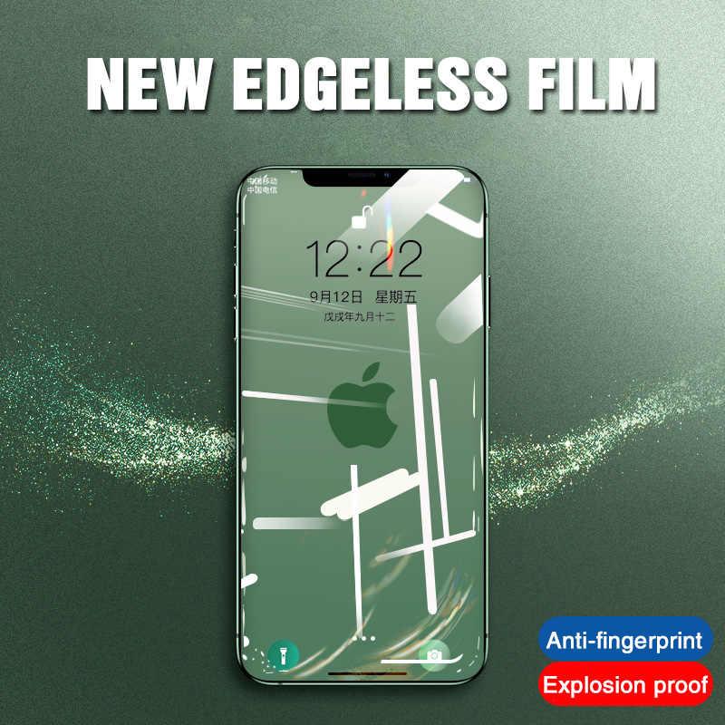 700D غطاء كامل الزجاج المقسى آيفون 11 برو ماكس واقي للشاشة على 6 7 8 Plus لينة حافة آيفون X XS XR طبقة رقيقة واقية