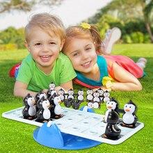 Баланс Пингвин seesaw игрушка детская головоломка настольная игра родитель-ребенок Взаимодействие мозговые движущиеся действия настольная игра