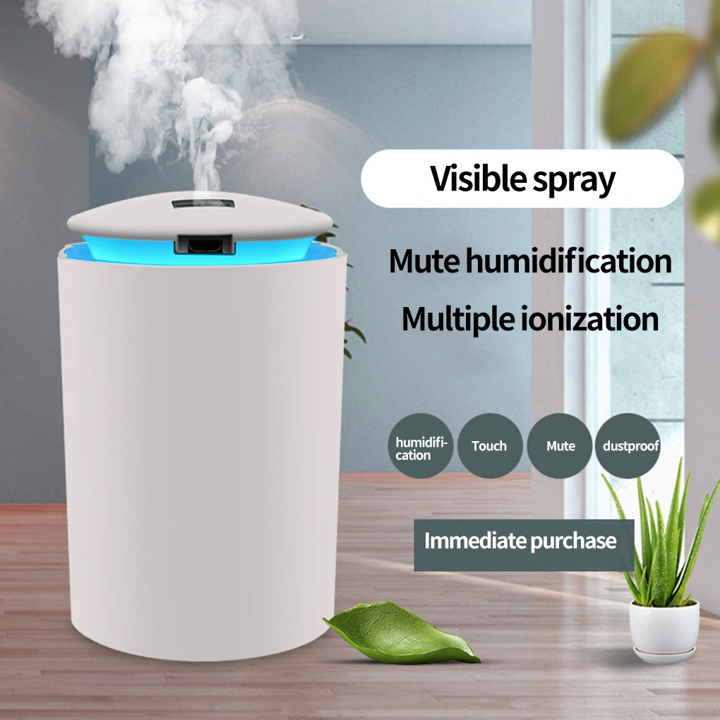 Household Air Humidifier Night Lamp Office Bedroom Living Room USB Powered Atomizer With 3 Color Atmosphere Light