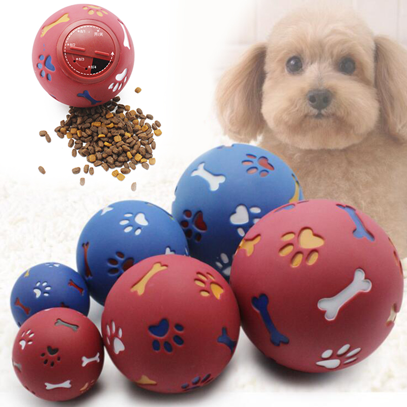 font b Pet b font Dog Toys Funny Interactive Elasticity Rubber Ball Dog Chew Toy