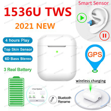 Original 1536U TWS Wireless Earphone Air2 Rename Bluetooth 5.0 Earphone Volume Control Super Bass Earbuds PK i90000 i99999 TWS