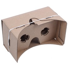 Top 6 inch DIY 3D VR Virtual Reality Glasses Hardboard For Google Cardboard(China)