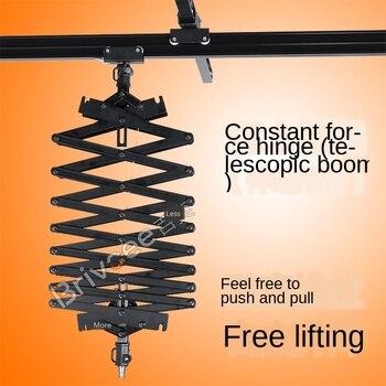 Studio boom 2.2m constant force hinge telescopic boom film and television lamp hanging equipment ceiling track accessories