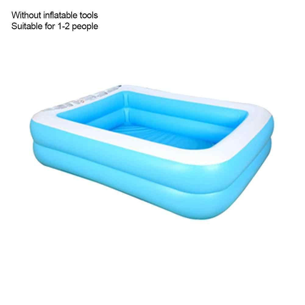 110/128/155 Cm Hình Chữ Nhật Bể Bơi Bơm Hơi Làm Dày PVC Chèo Đò Bể Tắm Bồn Ngoài Trời Mùa Hè Bể Bơi dành Cho Trẻ Em