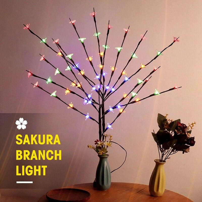Hot Selling LED Cherry Tree Branch Light Christmas Floral Light 20 LEDs Home Party Garden Bedroom Desktop Vase Decoration Lights