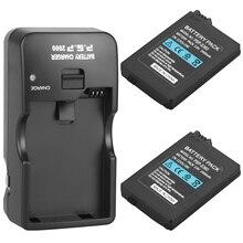 2 шт., Сменный аккумулятор для Sony PSP2000 PSP3000 PSP 2000 PSP 3000 2400 мАч, для портативного контроллера PlayStation и Ch