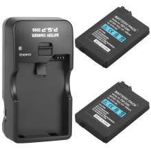 2Pcs Suitable for Sony PSP2000 PSP3000 PSP 2000 PSP 3000 2400mAh Replacement Battery  For PlayStation Portable Controller and Ch