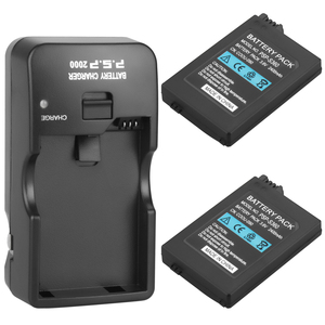 Image 1 - 2Pcs Suitable for Sony PSP2000 PSP3000 PSP 2000 PSP 3000 2400mAh Replacement Battery  For PlayStation Portable Controller and Ch