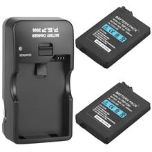 Bateria de substituição para sony psp, 2 peças, adequada para sony psp2000 psp3000 psp 2000 psp 3000 2400mah para controlador portátil de playstation e ch