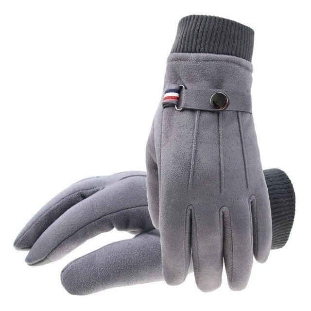 Winter Suede Men's Gloves  5