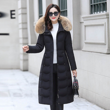 New Women's Down Coat Winter 2019 Fashion Keep Warm Outerwear Big Fur Collar Thicken White Duck Down Jacket Long Coat Female подсвечник на подставке на 1 свечу 17 12 9см уп 1 24шт