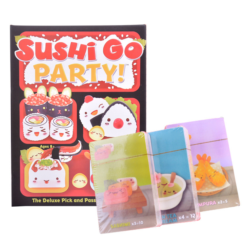 Interactive Card Game Sushi Go Educational Board Game Parent Child Party The Pick And Pass Card Kid Game Toy For 3 - 5 People
