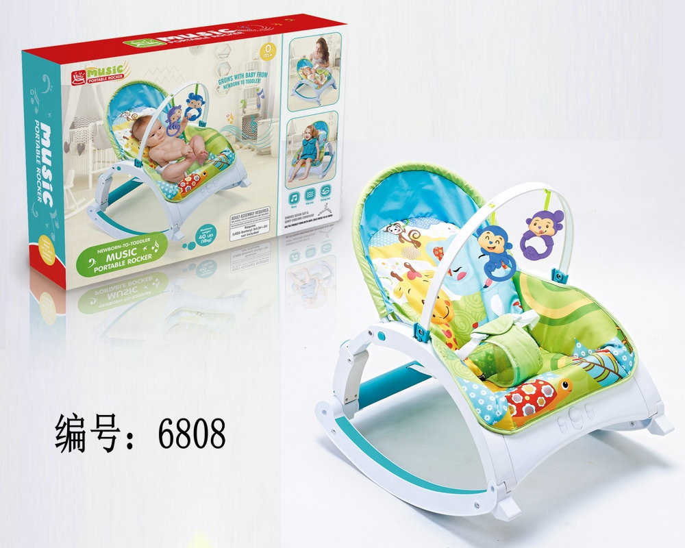 H60c5744f022c4856a2125b3ac518ed53s Newborn Multifunctional  foldable Electric baby rocking chair with toy music soothing and comfortable shaking baby chair