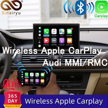 Sinairyu Aftermarket bezprzewodowy Apple CarPlay A6 A7 MMI rozwiązanie modernizacja z kamerą cofania dla Audi tanie i dobre opinie CN (pochodzenie) podwójne złącze DIN 6 5 Android DVD-R RW DVD-RAM VIDEO CD JPEG Aluminum 1024*800 Wbudowany GPs Odtwarzacz CD
