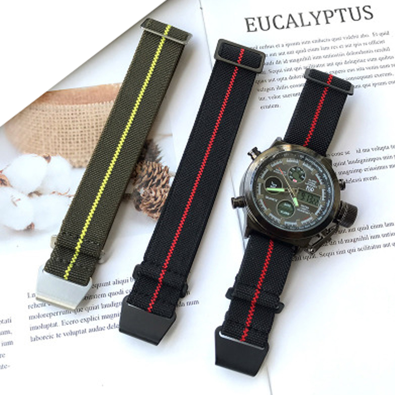 Nylon watch band 20mm 22mm for Samsung Galaxy Watches 3 41 45mm Strap Sport Watch Band for Amazfit Watch nato Watch Replacement(China)