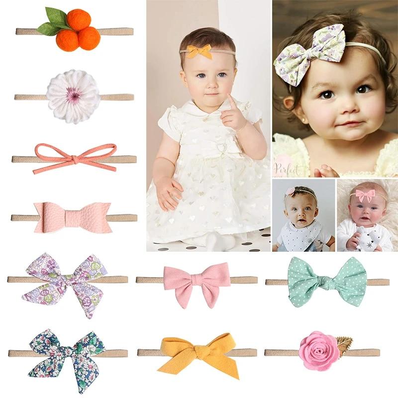 Children S Bow Hair Band Handmade Hair Accessories Newborn Baby Girls Flower Headband Infant Toddler Knot Headband 10 Types Hot Hair Accessories Aliexpress