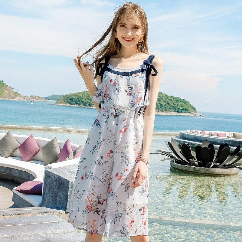 Chiffon Jumpsuits Women Sleeveless Jumpsuit Summer Streetwear Clothes Sweet Rompers Womens Casual Beach Wear 2020 LWL1638