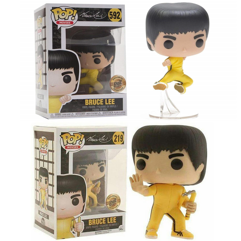 FUNKO POP Anime Limited Edition King Of Kung Fu Bruce Lee Vinyl Action Figures Collection Model Toys For Children Christmas Gift