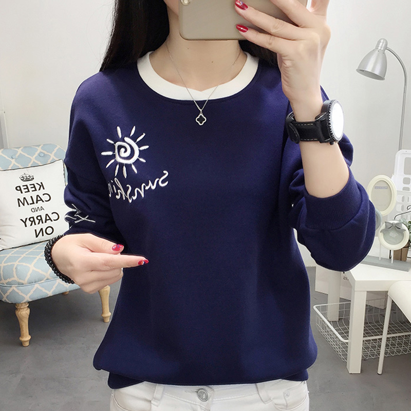 Shintimes Letter Embroidery Winter Sweatshirt Women Plus Size 2019 Pullover Fall Clothes Hoodies Womens Clothing Sudadera Mujer