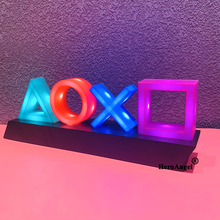 Dropshipping For PS4 Mood Flash Lamp Icon Modeling Voice Control Decorative Lamp House Colorful Lights Game Lampstand Led Light