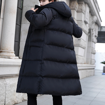 New Men's Winter Outdoor Warm Windproof Jacket Fashion Slim Medium Long Handsome Black Cotton Jacket 5XL