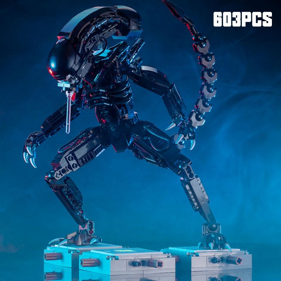 MOC-27578 Movie Series Aliens Vs Predator Mech Model Building Blocks Bricks Compatible Lepining Starwars Toys Children Gift
