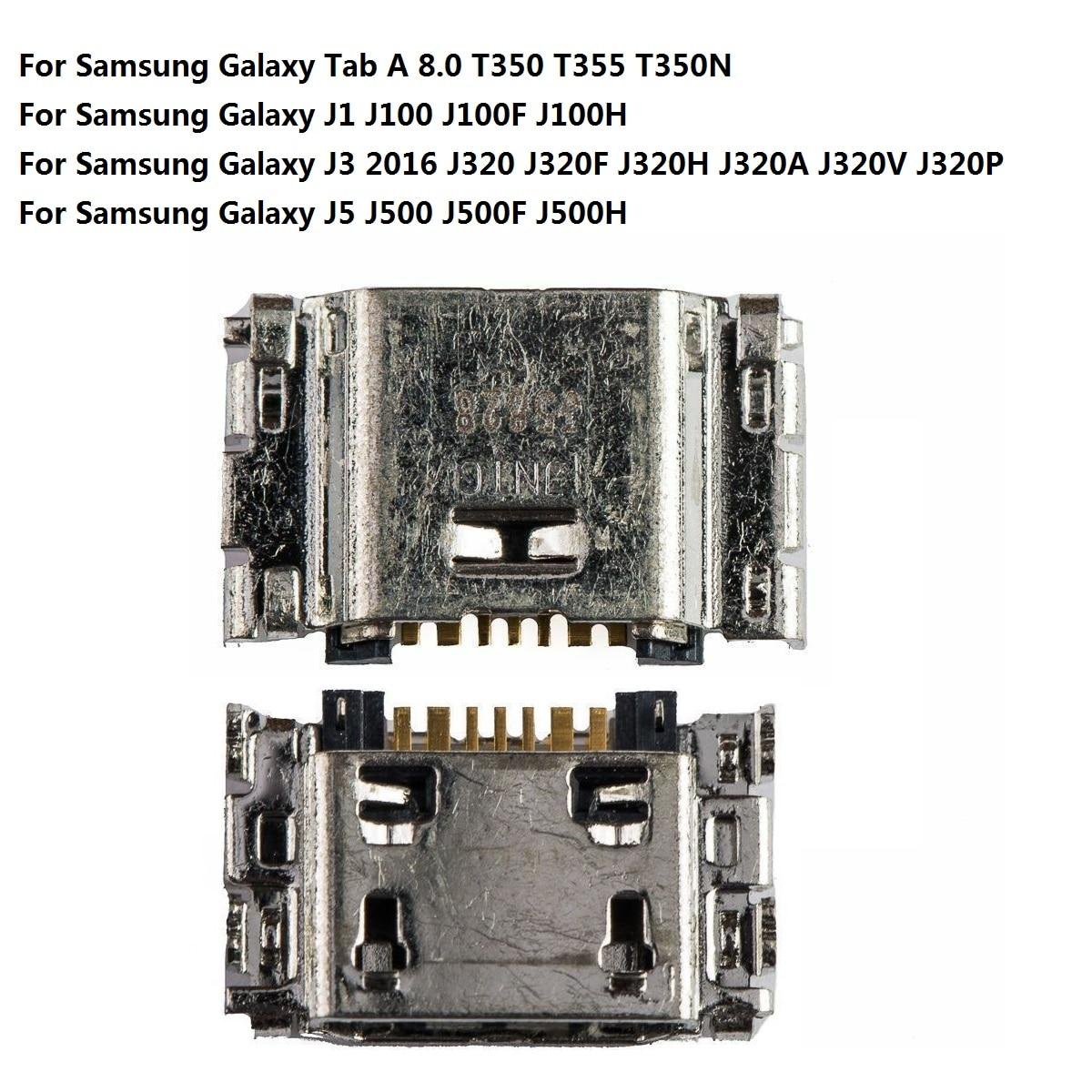 For Samsung Galaxy A 8.0 T350 T355/Galaxy J1 J100 J100F/J3 2016 J320 J320F/J5 J500 J500F Charge Charging Port Socket Connector